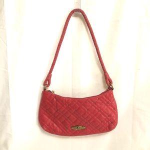 Elliott Lucci Red Quilted Leather Shoulder Bag